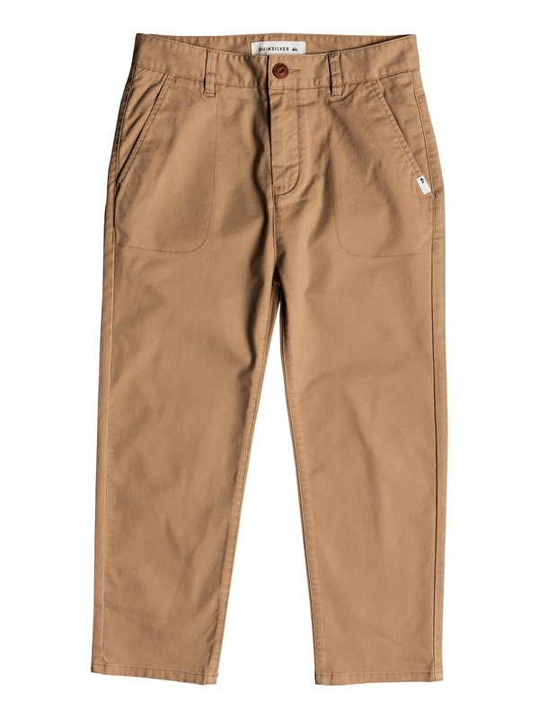 0 Omine - Ankle Length Trousers for Boys 8-16 Brown EQBNP03069 Quiksilver