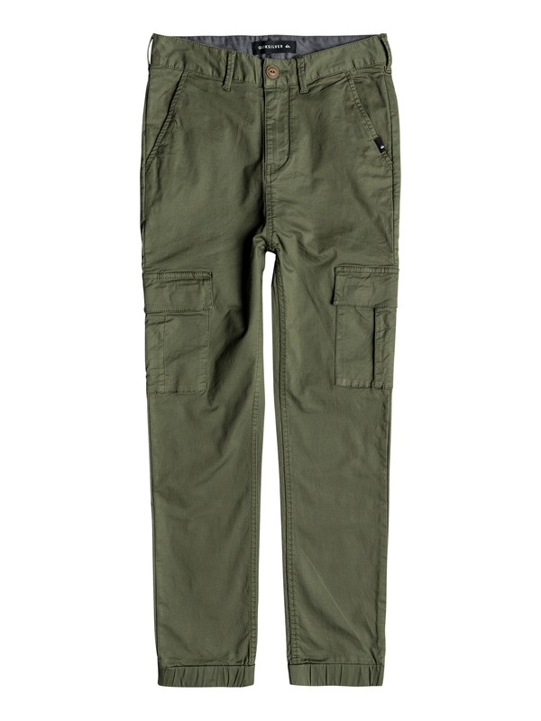 0 Takamatsu - Slim Fit Cargo Trousers for Boys 8-16 Green EQBNP03070 Quiksilver