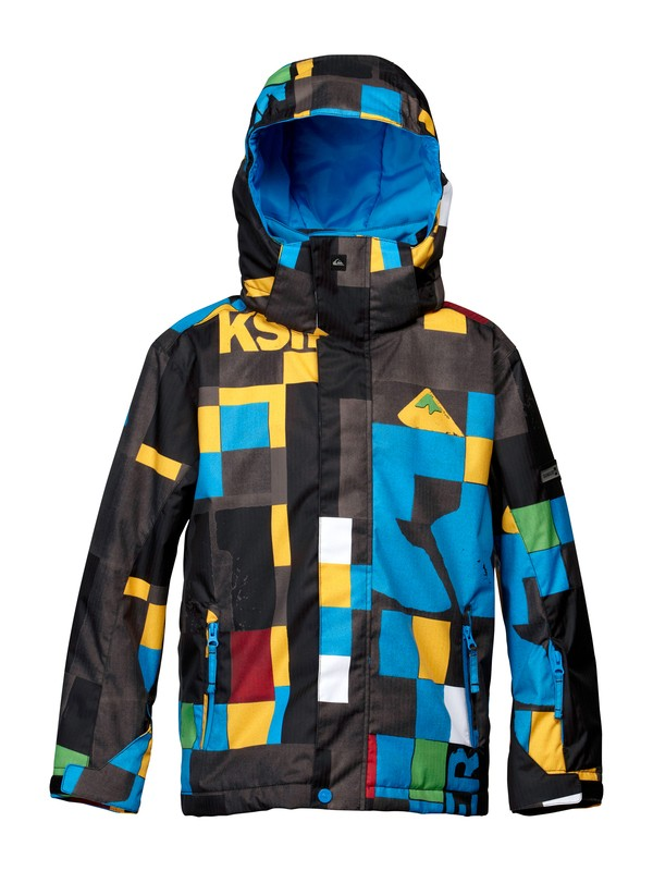 0 Mission 10K Youth Print Jacket  EQBTJ00011 Quiksilver