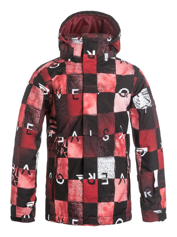 0 Mission Printed - Snow Jacket Red EQBTJ03037 Quiksilver