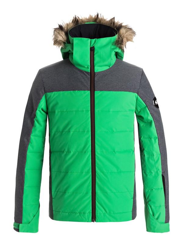 0 The Edge - Giacca da snowboard Green EQBTJ03053 Quiksilver