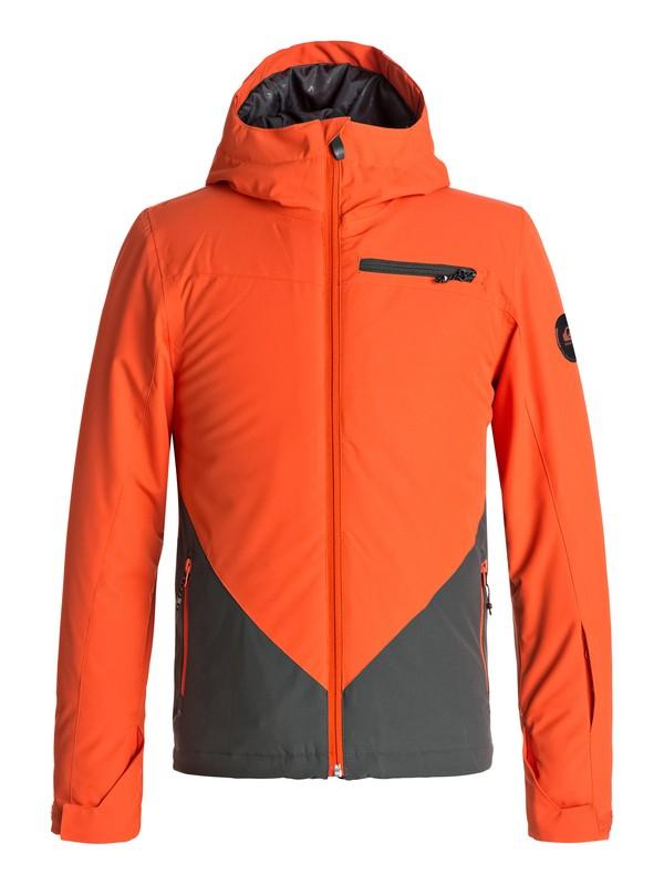 0 Suit Up - Snow Jacket for Boys 8-16 Orange EQBTJ03055 Quiksilver
