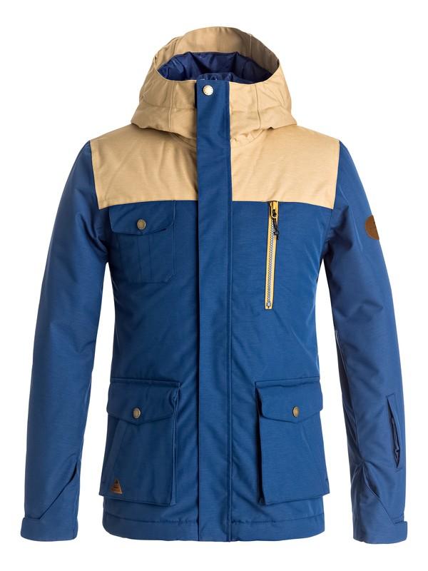 0 Boy's 8-16 Raft Snow Jacket Blue EQBTJ03056 Quiksilver
