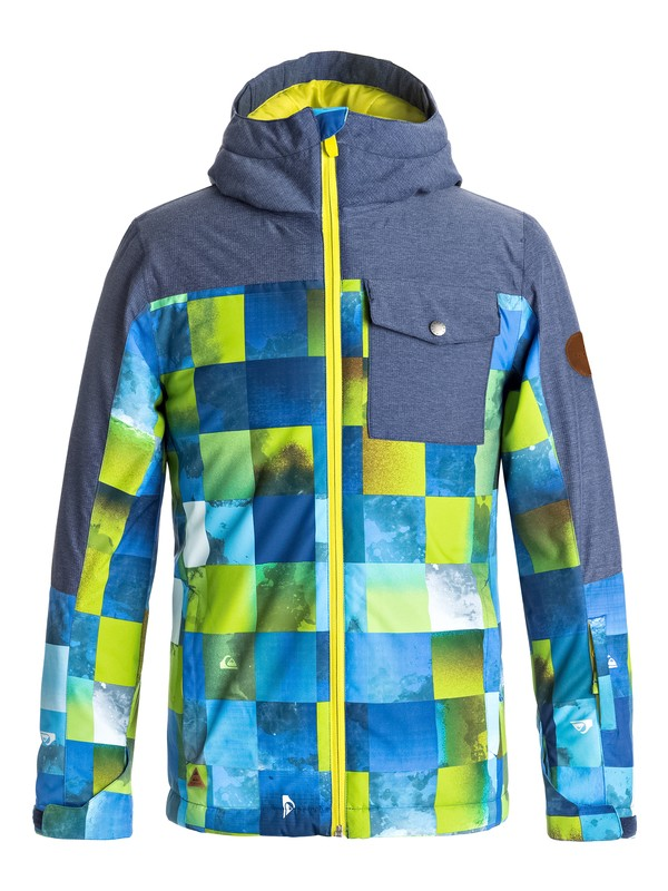 0 Mission Block - Snow Jacke für Jungen 8-16 Grün EQBTJ03059 Quiksilver