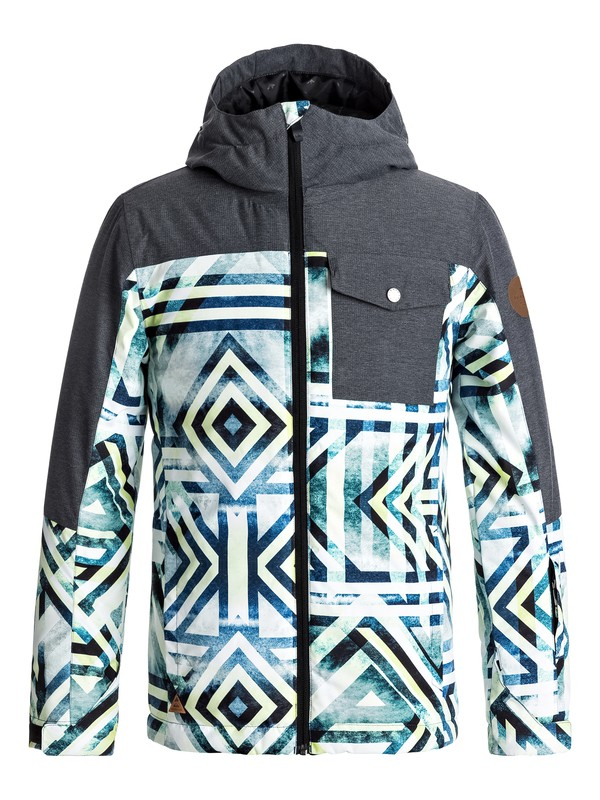 0 Mission Block - Snow Jacket for Boys 8-16 Yellow EQBTJ03059 Quiksilver