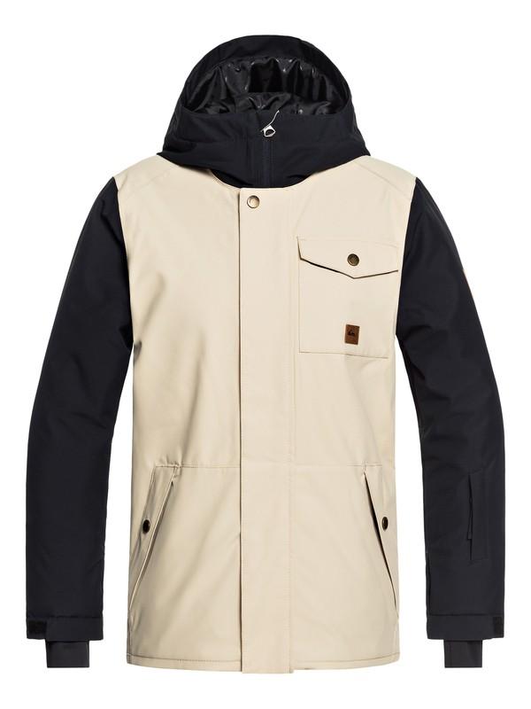 0 Boy's 8-16 Ridge Snow Jacket Beige EQBTJ03072 Quiksilver