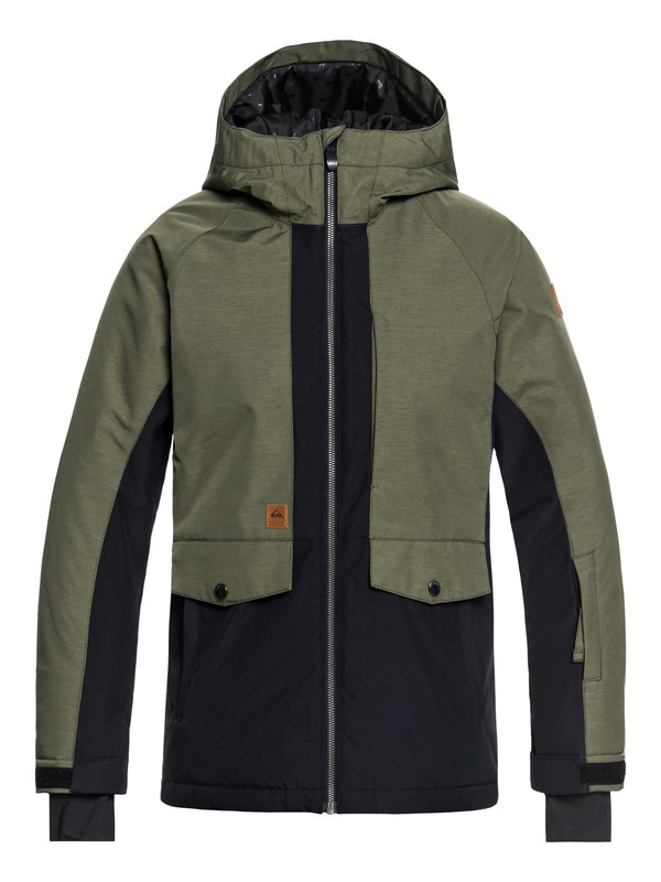 0 Boy's 8-16 Travis Ambition Snow Jacket Brown EQBTJ03074 Quiksilver