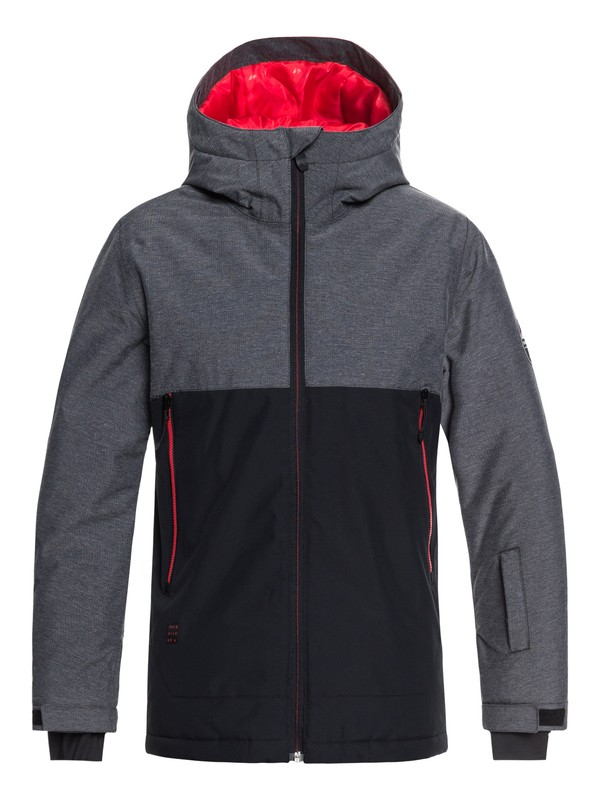 0 Sierra - Snow Jacket for Boys 8-16 Black EQBTJ03076 Quiksilver