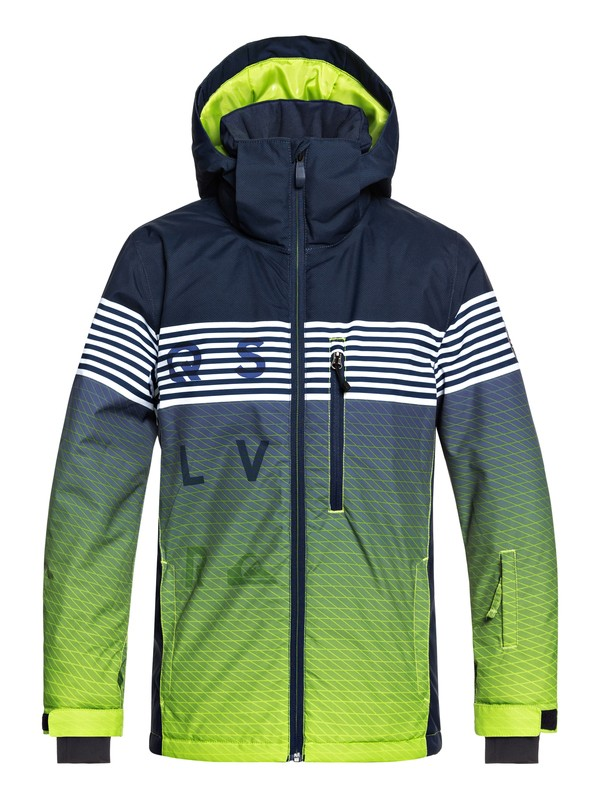 0 Boy's 8-16 Mission Snow Jacket Green EQBTJ03077 Quiksilver