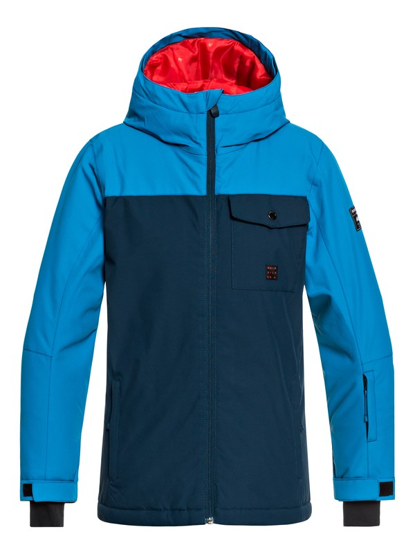 0 Boy's 8-16 Mission Snow Jacket Blue EQBTJ03078 Quiksilver