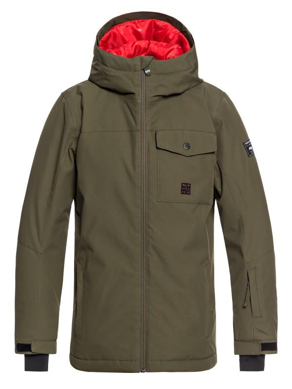 0 Mission - Snow Jacket for Boys 8-16 Brown EQBTJ03078 Quiksilver