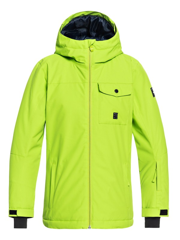 0 Mission - Snow Jacket for Boys 8-16 Green EQBTJ03078 Quiksilver