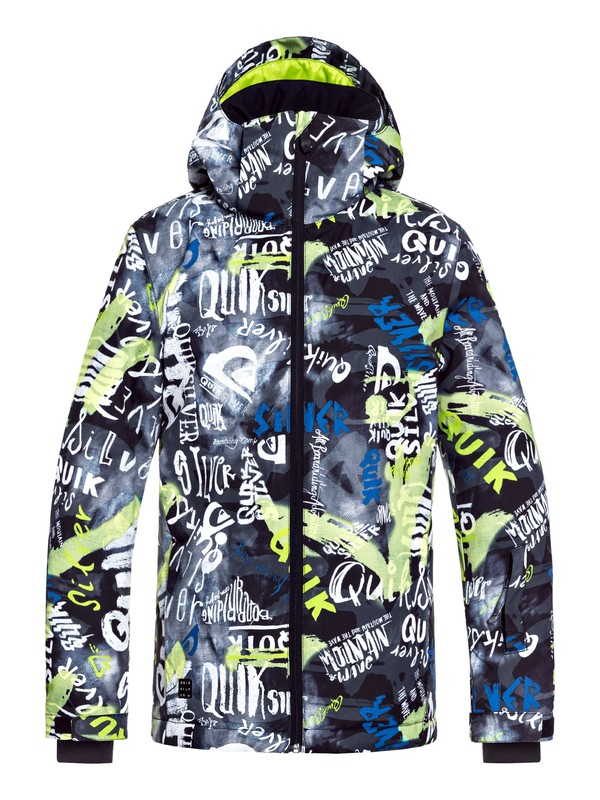0 Boy's 8-16 Mission Snow Jacket Black EQBTJ03079 Quiksilver