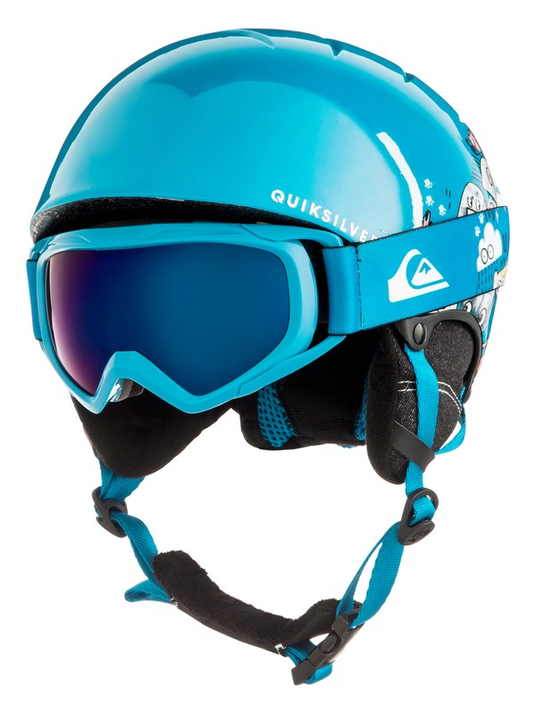 0 The Game Pack - Helmet and Goggle Set for Boys 8-16 Blue EQBTL03001 Quiksilver