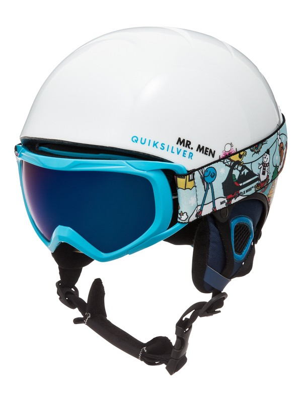0 The Game Pack - Helm und Goggle Set Weiss EQBTL03001 Quiksilver