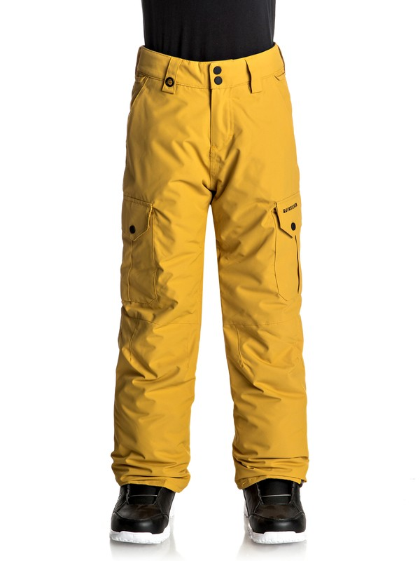 0 Porter - Pantalon de snow Jaune EQBTP03012 Quiksilver