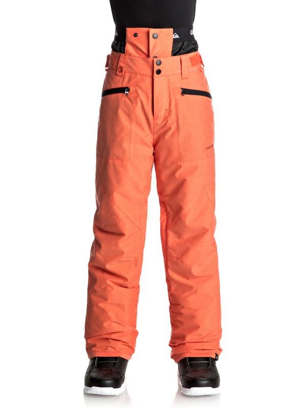 0 Boundry - Pantalon de snow Orange EQBTP03014 Quiksilver