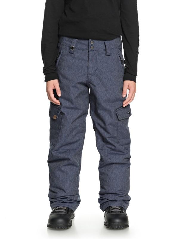 0 Porter - Cargo Snow Pants for Boys 8-16 Blue EQBTP03017 Quiksilver