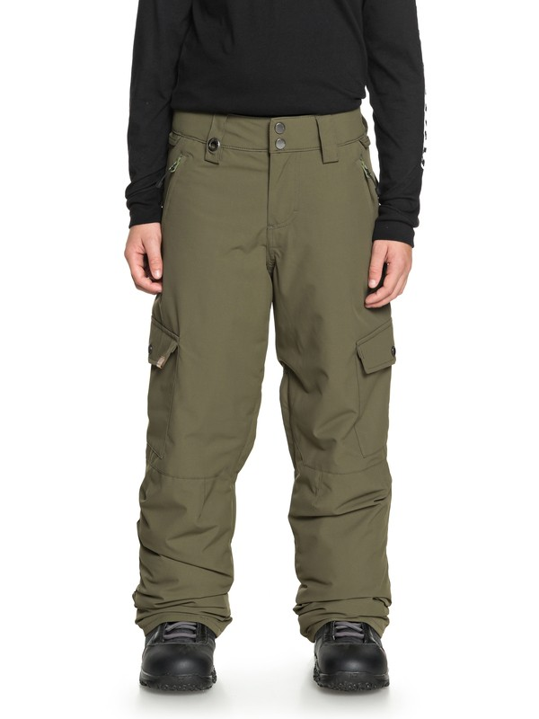 0 Boy's 8-16 Porter Snow Pants Brown EQBTP03022 Quiksilver