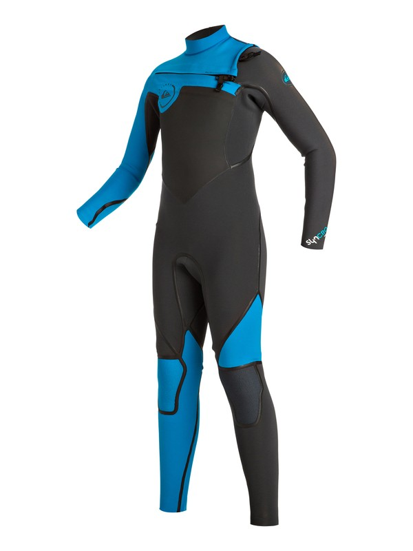 0 Boy's Syncro 3/2mm Chest Zip Full Wetsuit  EQBW103008 Quiksilver