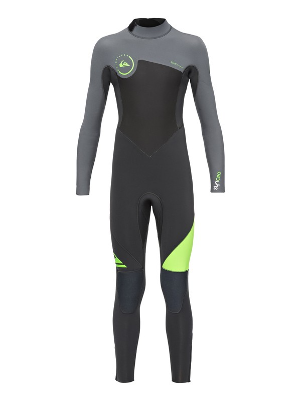 0 Syncro 3/2mm - Back Zip Full Wetsuit Green EQBW103013 Quiksilver