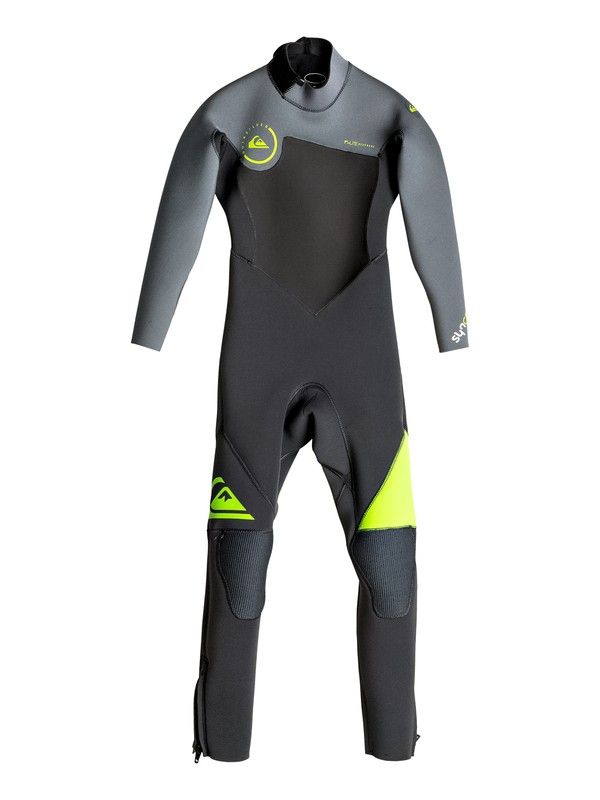 0 Boy's Syncro 3/2mm Back Zip Full Wetsuit  EQBW103015 Quiksilver