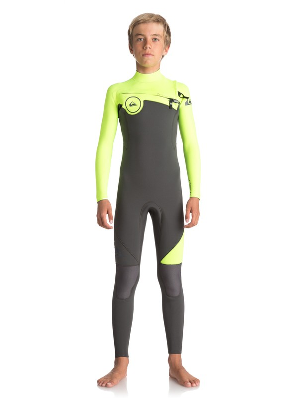 0 3/2mm Syncro Series - Chest Zip GBS Wetsuit for Boys 8-16  EQBW103019 Quiksilver
