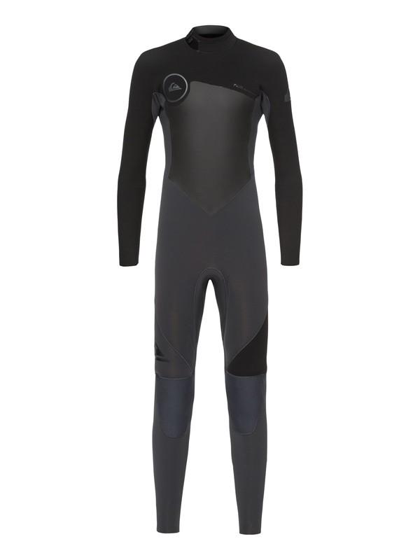 0 Boy's 8-16 3/2mm Syncro Series Back Zip GBS Wetsuit Black EQBW103023 Quiksilver