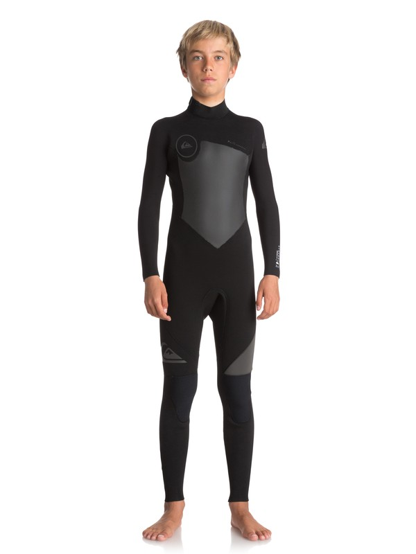 0 Boy's 8-16 3/2mm Syncro Series Back Zip GBS Wetsuit Black EQBW103023 Quiksilver