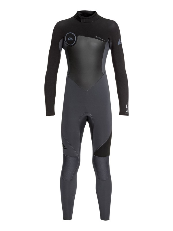 0 Boy's 8-16 4/3mm Syncro Series Back Zip GBS Wetsuit Black EQBW103027 Quiksilver