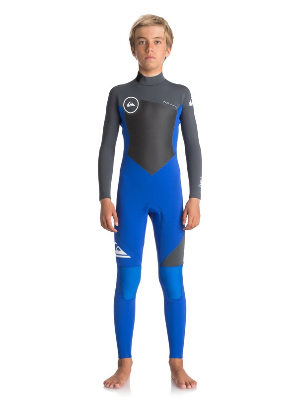0 4/3mm Syncro Series - Back Zip GBS Wetsuit for Boys 8-16 Purple EQBW103027 Quiksilver