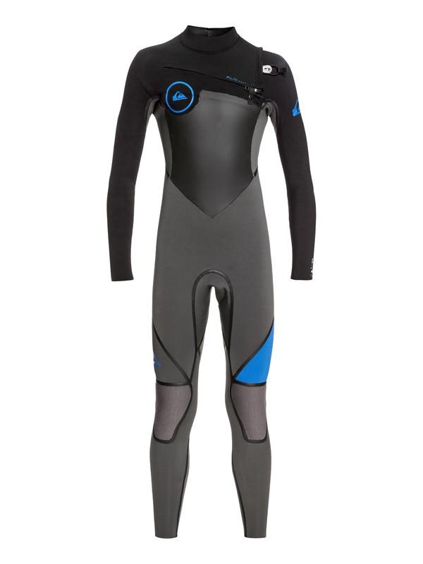 0 Boy's 8-16 4/3mm Syncro Plus Chest Zip Wetsuit  EQBW103029 Quiksilver
