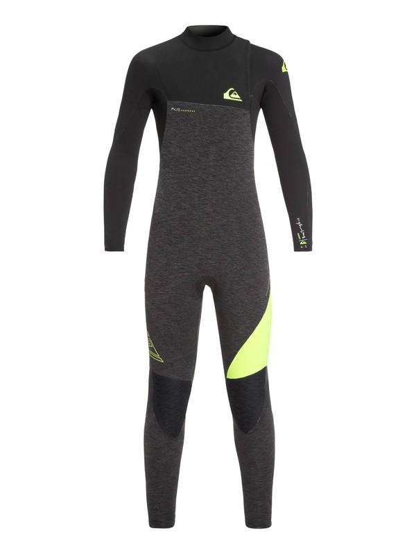 0 4/3mm Highline Series - Zipperless Wetsuit for Boys 8-16 Brown EQBW103035 Quiksilver