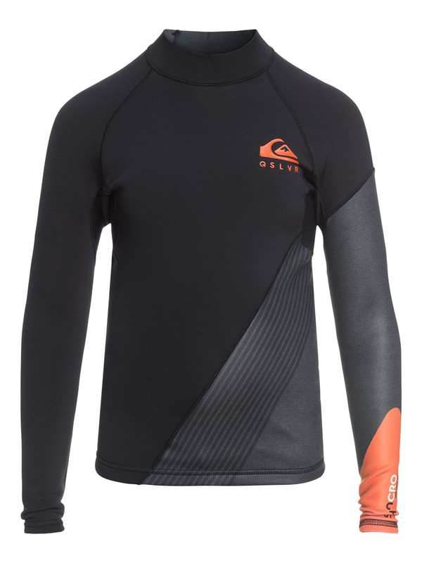 0 1mm Syncro New Wave - Long Sleeve Neoprene Top for Boys 8-16 Orange EQBW803001 Quiksilver
