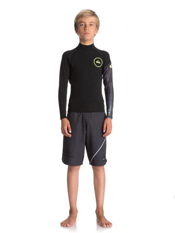 0 Boy's 8-16 1mm Syncro Series Long Sleeve Neoprene Surf Top Black EQBW803003 Quiksilver