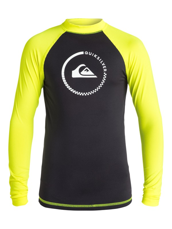 0 Boys 8-16 Lock Up Long Sleeve Rashguard  EQBWR03000 Quiksilver