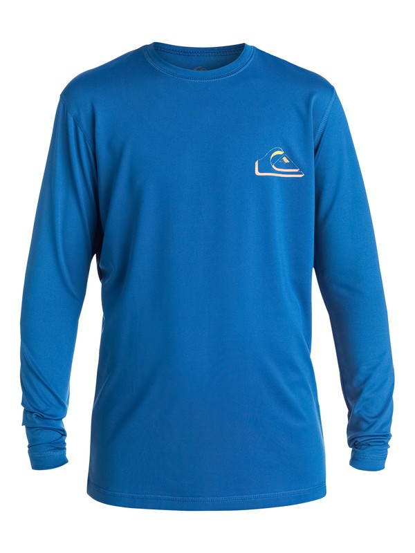 0 Boys 8-16 New Wave Long Sleeve Rashguard  EQBWR03005 Quiksilver