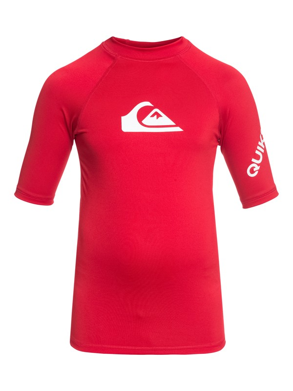 0 All Time - Short Sleeve UPF 50 Rash Vest for Boys 8-16 Red EQBWR03006 Quiksilver
