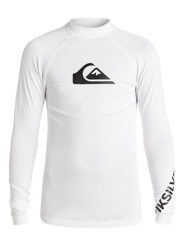 0 Boy's 8-16 All Time Long Sleeve UPF 50 Rashguard  EQBWR03007 Quiksilver