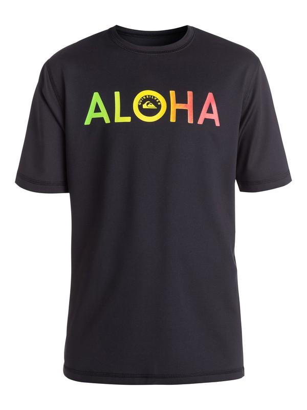 0 Boy's Aloha T-Shirt Rashguard  EQBWR03008 Quiksilver