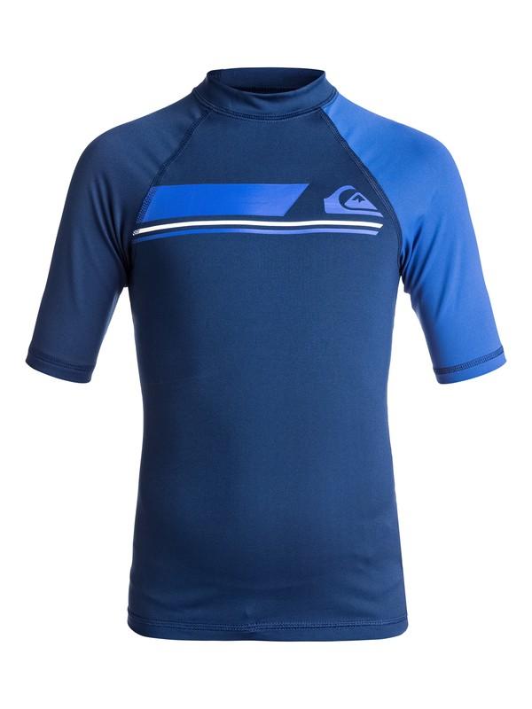 0 Active - Short Sleeve UPF 50 Rash Vest for Boys 8-16  EQBWR03036 Quiksilver