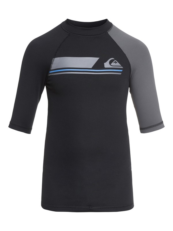 0 Boys 8 -16 Active Short Sleeve UPF 50 Rashguard Black EQBWR03036 Quiksilver