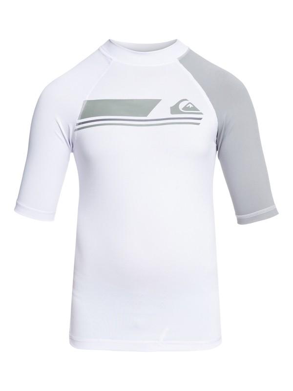 0 Active - Short Sleeve UPF 50 Rash Vest for Boys 8-16 White EQBWR03036 Quiksilver
