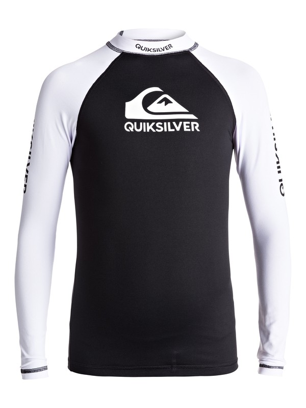 0 On Tours - Long Sleeve UPF 50 Rash Vest Black EQBWR03040 Quiksilver