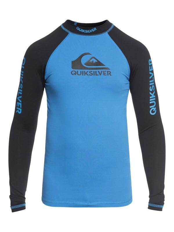 0 On Tours - Long Sleeve UPF 50 Rash Vest Blue EQBWR03040 Quiksilver
