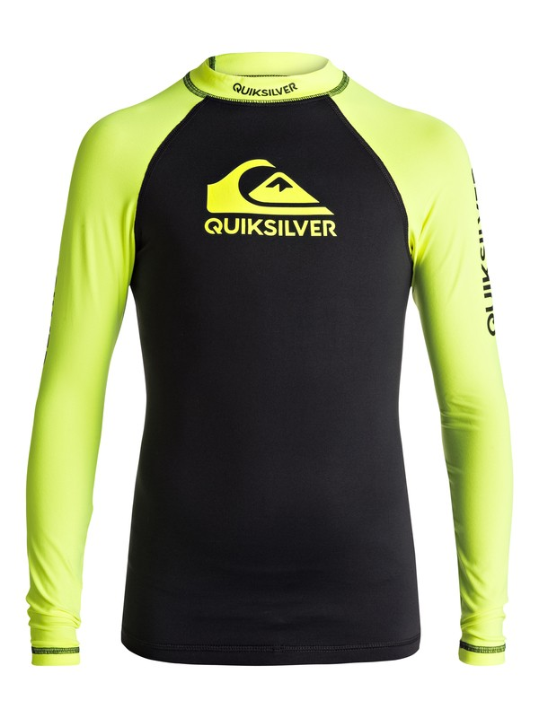 0 On Tours - Long Sleeve UPF 50 Rash Vest for Boys 8-16 Green EQBWR03040 Quiksilver