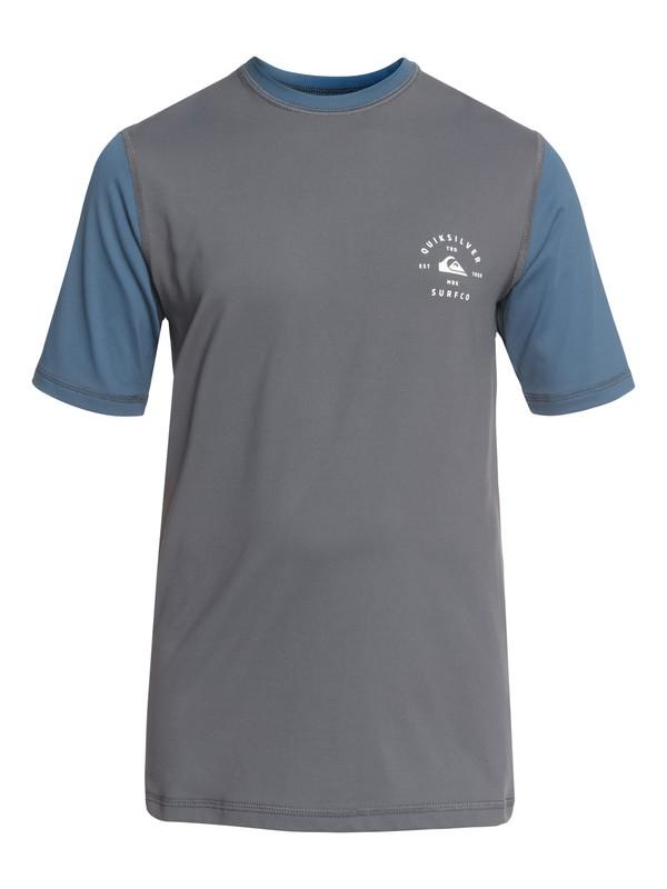 0 Colour Blocked - Amphibian UPF 50 Surf T-Shirt Black EQBWR03046 Quiksilver