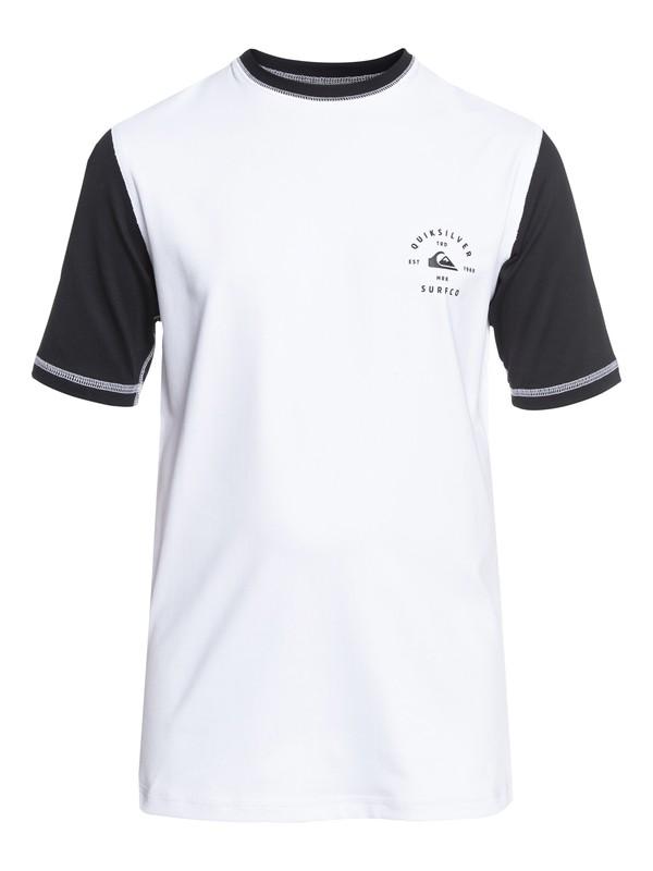 0 Colour Blocked - Amphibian UPF 50 Surf T-Shirt White EQBWR03046 Quiksilver