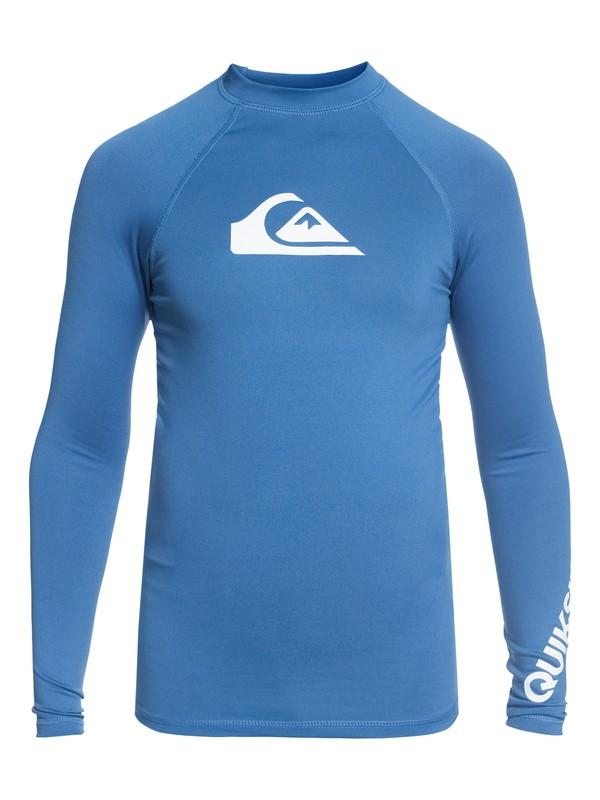 0 All Time - Long Sleeve UPF 50 Rash Vest for Boys 8-16 Blue EQBWR03047 Quiksilver