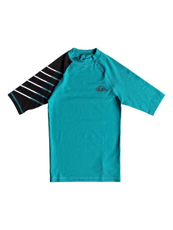 0 Boy's 8-16 Active Short Sleeve UPF 50 Rash guard Blue EQBWR03058 Quiksilver